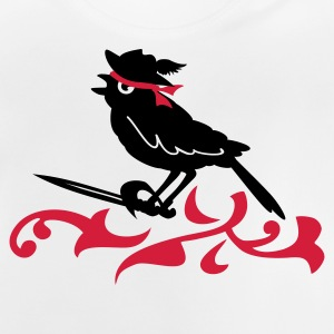 Grå meleret spurv, den pirat / sword of the sparrow (2c) Børne sweatshirts - Baby T-shirt