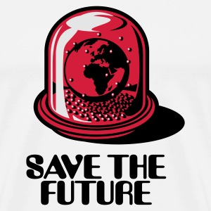 Sand/charcoal Save the future Long sleeve shirts - Men's Premium T-Shirt