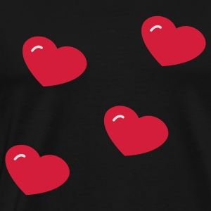 Black Hearts Hoodies & Sweatshirts - Men's Premium T-Shirt