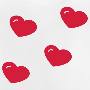 Gris clair chiné Hearts Sweats Enfants - T-shirt Bébé
