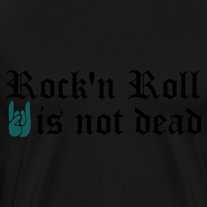 Noir rock and roll is not dead Sweatshirts - T-shirt Premium Homme
