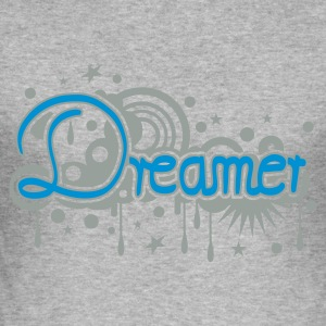 Heather grey dreamer Hoodies & Sweatshirts - Men's Slim Fit T-Shirt