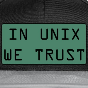 In Unix We Trust - Casquette snapback