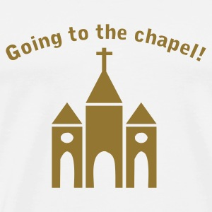 Vit Going to the Chapel Väskor - Premium-T-shirt herr