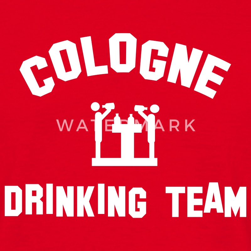 Rot cologne drinking team T-Shirts - Männer T-Shirt