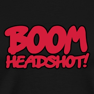 Navy BOOM headshot 2c UK Kinder sweaters - Mannen Premium T-shirt
