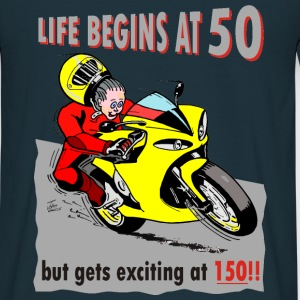 Life begins at 50 Hoodies & Sweatshirts - Men's T-Shirt