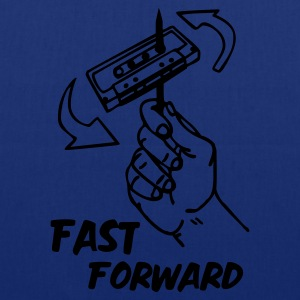 Navy fast_forward_1c T-Shirts - Stoffbeutel
