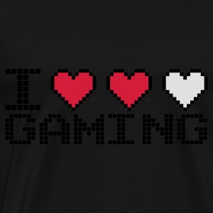 Black I Heart Gaming Hoodies & Sweatshirts - Men's Premium T-Shirt