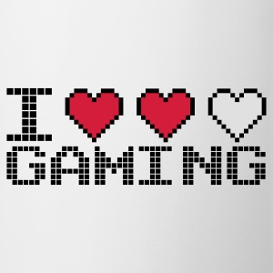 Blanc I Heart Gaming Sweatshirts - Tasse