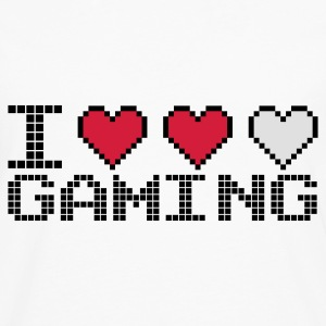 Blanc I Heart Gaming Sweatshirts - T-shirt manches longues Premium Homme