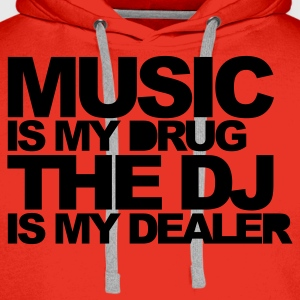 Red Music Is My Drug V3 Men's T-Shirts - Men's Premium Hoodie