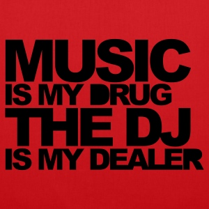Red Music Is My Drug V3 Men's T-Shirts - Tote Bag