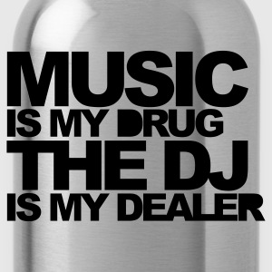 Red Music Is My Drug V3 Men's T-Shirts - Water Bottle