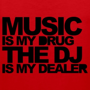 Red Music Is My Drug V3 Men's T-Shirts - Men's Premium Tank Top