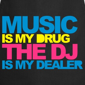 Noir Music Is My Drug V4 T-shirts - Tablier de cuisine