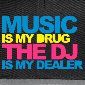 Noir Music Is My Drug V4 T-shirts - Casquette snapback