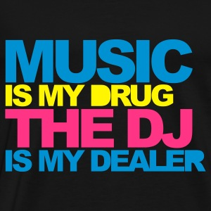 Zwart Music Is My Drug V4 Sweaters - Mannen Premium T-shirt