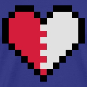 Royal blå Broken Pixel Heart Barnegensere - Premium T-skjorte for menn