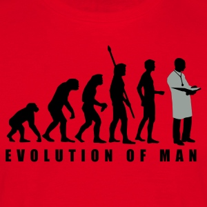 evolution_arzt_2c  Aprons - Men's T-Shirt