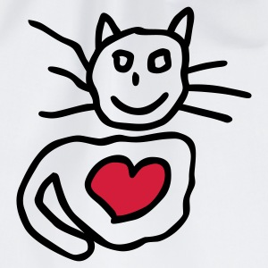 Weiß Kitty Love © Kinder T-Shirts - Sportstaske