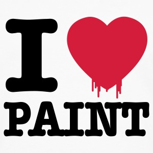 Hvit i love paint Kopper - Premium langermet T-skjorte for menn