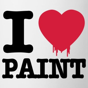 Blanc i love paint Tabliers - Tasse
