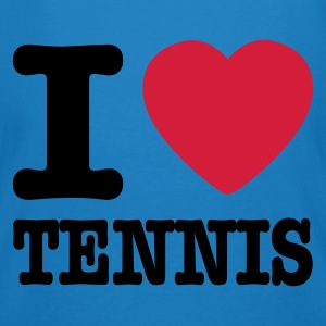 Blu pavone I love tennis IT Borse - T-shirt ecologica da uomo
