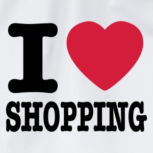 Vit i love shopping Barn-T-shirts - Gymnastikpåse