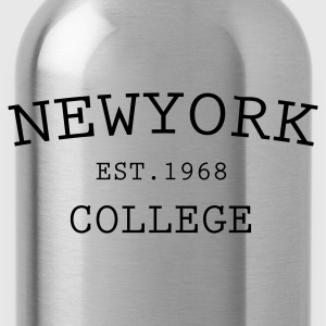 Zwart new york college T-shirts - Drinkfles