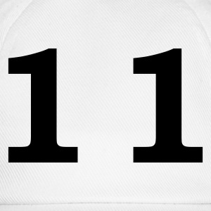 White number - 11 - eleven Men's T-Shirts - Baseball Cap