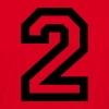 Red number - 2 - two Men's T-Shirts - Men's T-Shirt