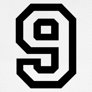 White number - 9 - nine Men's T-Shirts - Baseball Cap