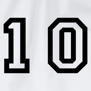 White number - 10 - ten Men's T-Shirts - Drawstring Bag