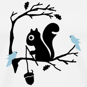 Sand/charcoal Squirrel Long sleeve shirts - Men's Premium T-Shirt