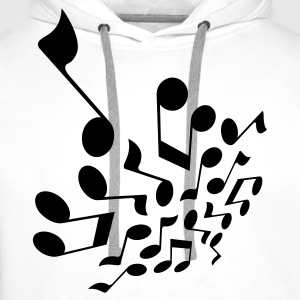 Wit Crazy notes 3D T-shirts - Mannen Premium hoodie
