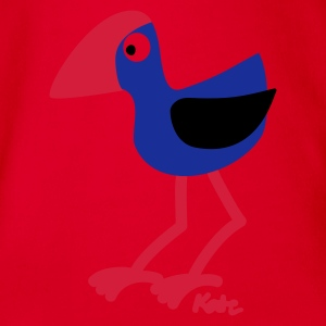 Red Pukeko  Kids' Shirts - Organic Short-sleeved Baby Bodysuit