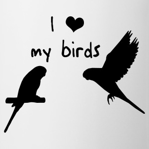 Wellensittiche - I love my birds T-Shirts - Tasse