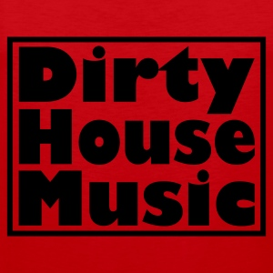 Rood dirty_house_music_met_kader T-shirts - Mannen Premium tank top