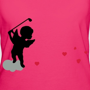 Magenta Amor with golf Club Bags  - Women's Organic T-shirt