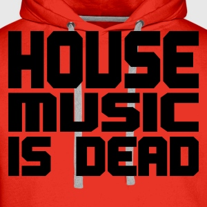 Rood house_music_is_dead_uni T-shirts - Mannen Premium hoodie