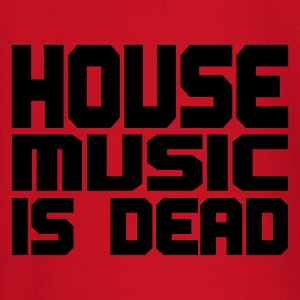 Rood house_music_is_dead_uni T-shirts - T-shirt