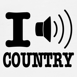 Wit I music country / I love country Tassen - Mannen Premium T-shirt