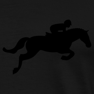 Black Horse Jump Coats & Jackets - Men's Premium T-Shirt