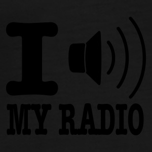 Gul I love my radio / I speaker my radio Paraply - Premium T-skjorte for menn