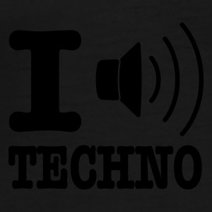 Gul I love techno / I speaker techno Paraply - Premium-T-shirt herr