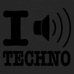 Gul I love techno / I speaker techno Paraply - Premium langermet T-skjorte for menn