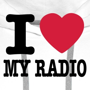 Wit i love my radio / I heart my radio Kookschorten - Mannen Premium hoodie