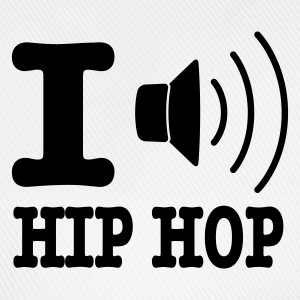 Bianco I love hiphop / I speaker hiphop Borse - Cappello con visiera