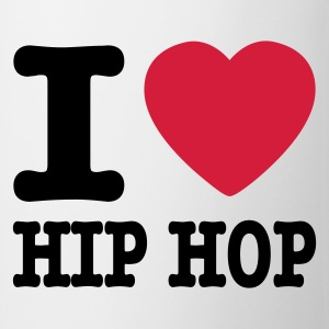 Weiß I love hiphop / I heart hiphop Baby Body - Tasse